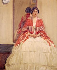 Helen McNicoll, The Victorian Dress, 1914. Oil on canvas, 108.8 x 94.5 cm. McCord Museum, Montreal. #ArtCanInstitute #CanadianArt