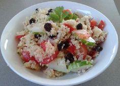 Couscous Salad Couscous Salad, Potato Salad, Grains, Rice, Potatoes, Nutrition, Ethnic Recipes, Food, Potato