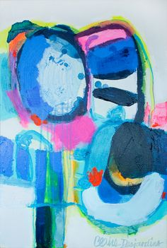 """Even Better Together"" by Claire Desjardins - Acrylics on canvas - 20""x30"" - 2012."