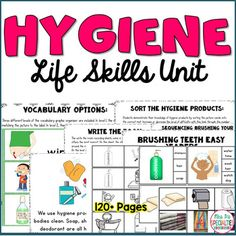 This thematic unit is designed to enhance and further your student's life skills and understanding of hygiene . Target crucial life skills with these reading, vocabulary and work tasks.   ***HUGE savings by buying the Life Skills Unit BUNDLE***  The activities include multiple levels to save you time and help you differentiate within your programs and groupings.