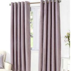 Mauve Aspen Thermal Eyelet Curtains | Dunelm