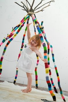 Or make a big-ass teepee. | 28 Things You Can Do With Yarn Besides Knitting