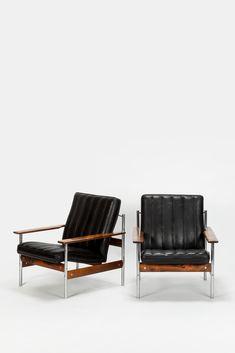 Paar Sven Ivar Dysthe Lounge Chairs 1001 - Okay Art
