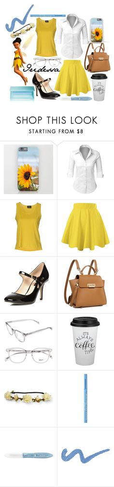 """""""I for Iridessa"""" by rarimena ❤ liked on Polyvore featuring LE3NO, Air Jumper by Scaglione, Dorothy Perkins, ZAC Zac Posen, Aéropostale, Too Faced Cosmetics, L'Oréal Paris, Shiseido, school and yellow"""