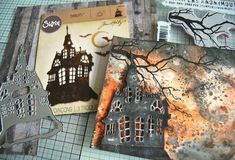 Hi folks, today I'm sharing a project made with some of the new Halloween 2018 Tim Holtz/Stampers Anonymous and Idea-ology goodies and some . Halloween Paper Crafts, Halloween Tags, Halloween Pictures, Vintage Halloween, Happy Halloween, Halloween Decorations, Thanksgiving Cards, Holiday Themes, Fall Cards