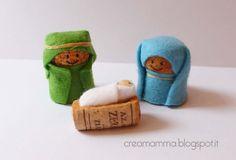Corks & Felt Nativity Recycled Cork