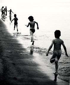 Stephany Delgado : This photograph fascinates me as it showcases almost all the elements of vision, one of the primary ones being depth. The lighting & shadow emphasizes the sands coarse texture yet not taking away from the movement and abrasions created by the children's feet while running through the sand and water.