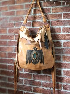 1 st payment RESERVED bag Brown fringed leather  by SweetSmokebags