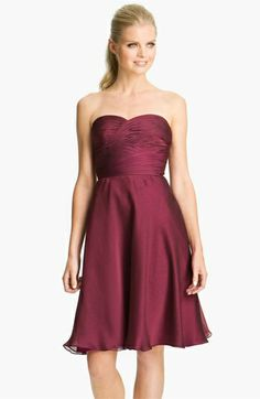 2014 New FashionTrends Beautiful lady red semi-heart no sleeves wedding Bridesmaid and Princess style A-lineKnee-length dress  $125.00