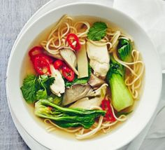 Cheats chicken ramen: This speedy version of the classic Japanese noodle soup makes a delicious everyday dinner or warming lunch - and it's low in fat and calories too Bbc Good Food Recipes, Healthy Dinner Recipes, Cooking Recipes, Cooking Hacks, Ramen Recipes, Chicken Recipes, Recipies, Japanese Diet, Ramen Noodle Soup