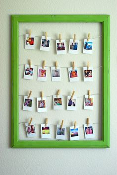 A creative project to display Instagram photos using an Ikea frame and Printstagram. Could also display wallet size school pictures. betterthanicouldhaveimagined.com  #DIY
