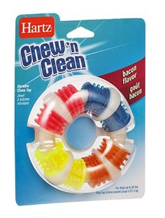 Hartz Chewn Clean Durable Chew Toy Bacon Flavor EA Pack of 6 -- More info could be found at the image url.