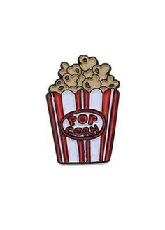 Punky Pins Popcorn Enamel Pin, £5.99