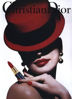 8 Make up poster - Christian Dior Magazine Advert - 1990s Rouge A Levres Lipstick by Tyen +