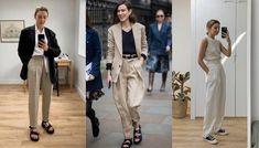 Pantaloni in lino: idee su come indossarli Sporty Chic, Coat, Jackets, Fashion, Boyshorts, Down Jackets, Moda, Sewing Coat, Fashion Styles