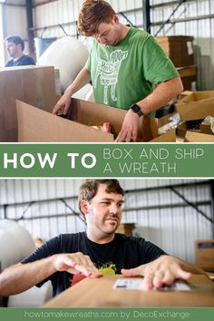 Learn the best way on how to box and ship a wreath to avoid damaging your beautiful door decoration. Keep your customers happy with this tutorial. #howtomakewreaths #decoexchage #wreathtips #shippingtips #businesstips #ecommerce Shipping Boxes, Wreath Boxes, In The Hole, Wreath Supplies, Trendy Tree, Wreath Tutorial, Support Small Business, Feeling Special