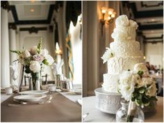 pretty cake, chic and classic wedding - photo by Radient Photography