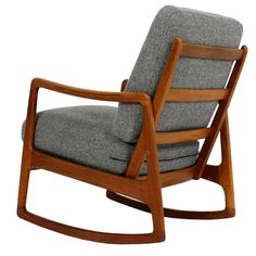 1960s Danish Ole Wanscher Teak Rocking Chair Mod. 109 Rocker Mid-Century Modern | From a unique collection of antique and modern lounge chairs at https://www.1stdibs.com/furniture/seating/lounge-chairs/