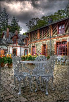Terrace Of The Stable @ Castle Trévarez ~ Saint-Goazec, France  Les écuries  Finistère Bretagne