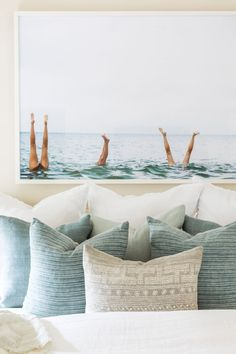 Costal Bedroom, Beach House Bedroom, Beach House Decor, Master Bedroom, Coastal Bedding, Beach Room, Beach Houses, Decor Inspiration, Decor Ideas
