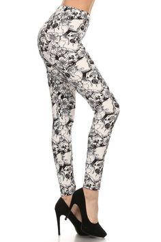 Buttery Soft Skulls Leggings – Clover Clothing Company
