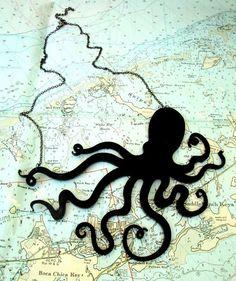 An Octopus Love Affair Necklace - Black Acrylic