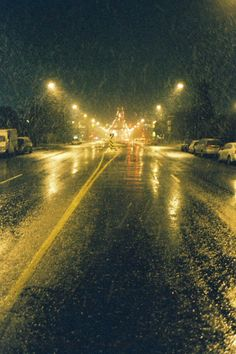 ok.... it ISN'T a country road....but rainy streets are JUST as cool....it sets my creative juices to flow