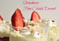 Strawberry Pina Colada dessert (Greekyogurt instead of pudding?)