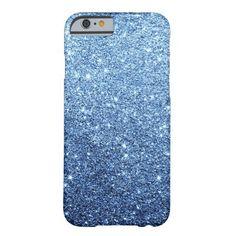 Elegant Navy Blue Glitter Luxury iPhone 6 Case