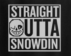 Undertale Sans Straight outta Snowdin Compton game Tee T-Shirt Tshirt - Animetee - 1