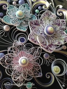 Examples of Quilling Art - Quilling Ideas Arte Quilling, Origami And Quilling, Quilled Paper Art, Quilling Paper Craft, Paper Crafts, Quilling Patterns, Quilling Designs, Diy And Crafts, Arts And Crafts