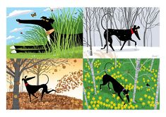 The Seasons of Greyhounds, by Richard Skipworth