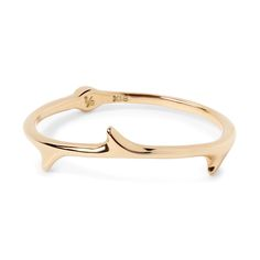 Phalange ring rose thorn K18 gold LE-PAR03 little emblem #littleemblem #phalangering #midiring #rosethorn #gold #ruby