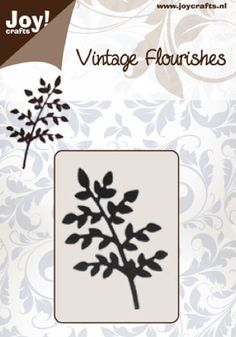 Vintage Flourish Dies - Small leaves on a Branch
