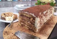 Κέικ τιραμισού-featured_image Greek Sweets, Greek Desserts, Party Desserts, Greek Recipes, Pureed Food Recipes, Sweets Recipes, Cooking Recipes, What's Cooking, Sweets Cake