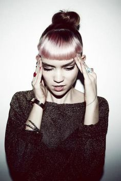 I like this portrait because of the positioning of the model. This is musician Grimes, and this image works really well.