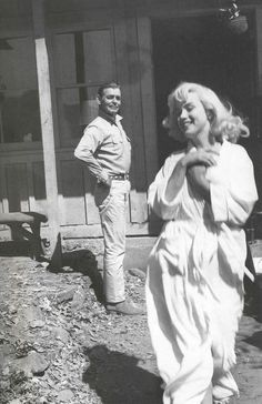 "MM & Clark Gable in The Misfits"" 1961"