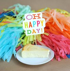 oh happy day   fun cake toppers in words
