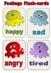 English teaching worksheets: Feelings flashcards
