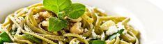 Linguine al Pesto com Espinafres e Nozes