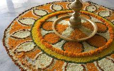 rangoli!! Rangoli Patterns, Rangoli Designs Diwali, Rangoli Designs With Dots, Diwali Rangoli, Kolam Designs, Diwali Decorations, Festival Decorations, Flower Decorations, Diwali Cards