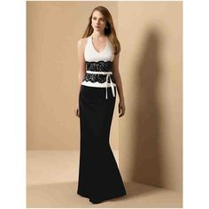 Black And White Bridesmaids Dresses For Weddings