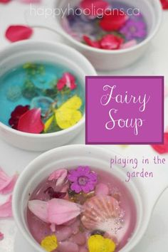 fairy soup - sensory and fine motor play in the garden (happy hooligans)
