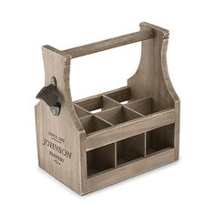 Personalized Wood Beer Caddy With Bottle Opener Beer Lover