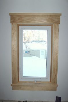 Craftsman Style Window Trim (Really like this for master  bedroom windows, painted white)