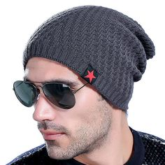 b9a17ee2b75 Mens Thick Plus Velvet Lining Knitted Hat Winter Outdoor Ski Warm Skull  Beanie Caps