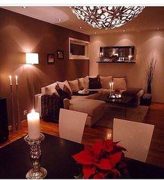 nice livingroom wall colour, very warm