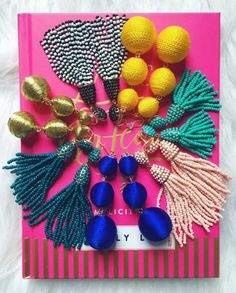 Tassel and bubble earrings - so on trend for spring 2017
