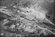 Hot Shots Archive: This aerial photo of the Firthcliff station grounds and the Firth Carpet Company facilities appeared in an ad in the 1959 Hudson Valley Progress Edition of the Newburgh Evening News.