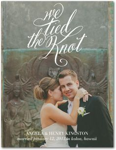 This is a good way to incorporate We Tied the Knot into your wedding invitations.